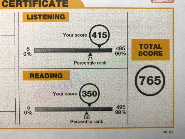 toeic test result